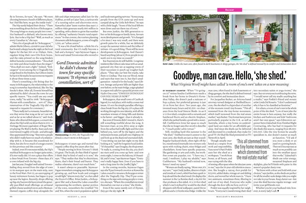 Article Preview: Goodbye, man cave. Hello, 'she shed.', August 1 2016 | Maclean's