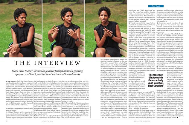 Article Preview: THE INTERVIEW, August 1 2016 | Maclean's