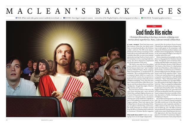 Article Preview: God finds His niche, AUGUST 8 2016   Maclean's