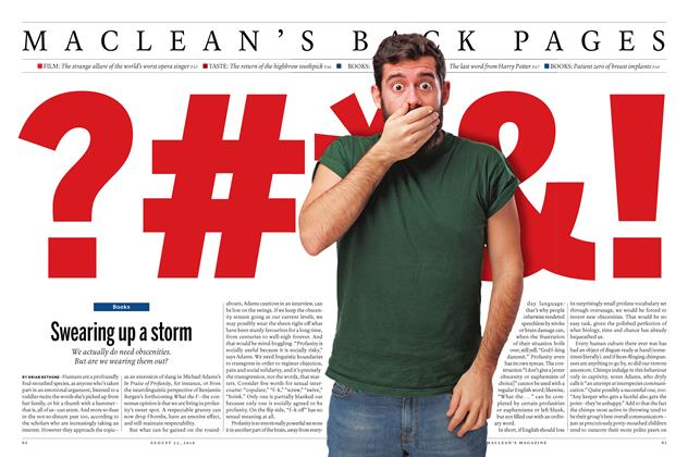Article Preview: Swearing up a storm, August  22 2016 | Maclean's
