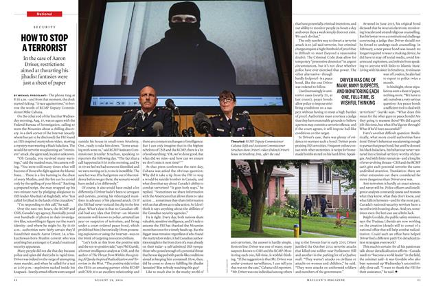 Article Preview: HOW TO STOP A TERRORIST, August 29, 2016 2016 | Maclean's