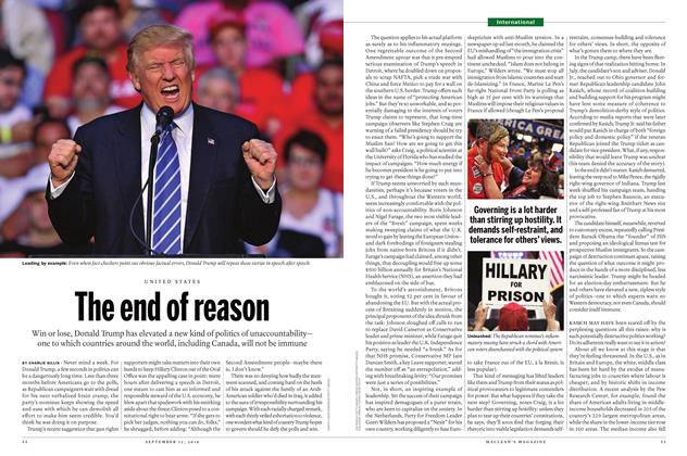 Article Preview: The end of reason, SEPTEMBER 12 2016 | Maclean's