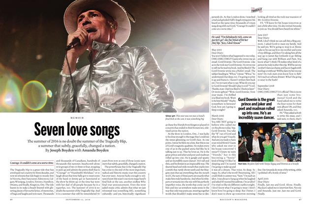Article Preview: Seven love songs, SEPTEMBER 12 2016 | Maclean's