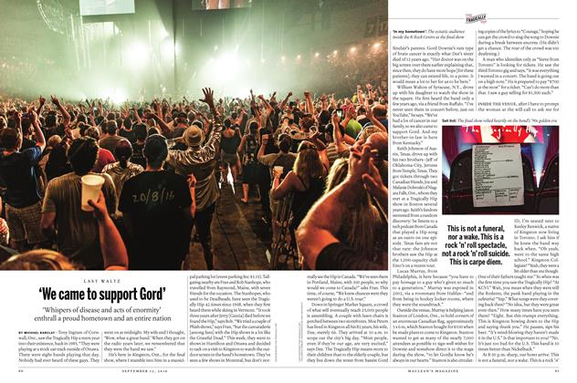 Article Preview: 'We came to support Gord', SEPTEMBER 12 2016 | Maclean's
