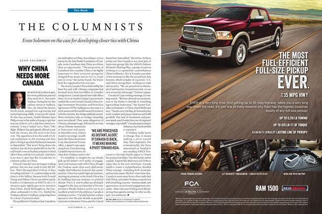 Article Preview: THE COLUMNISTS, SEPTEMBER 12 2016 | Maclean's