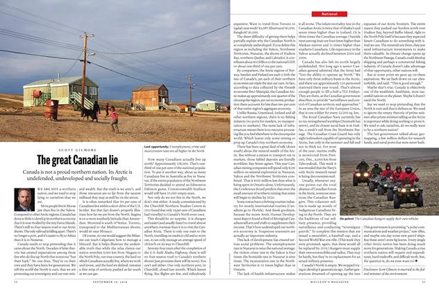 Article Preview: The great Canadian lie, September 19 2016 | Maclean's