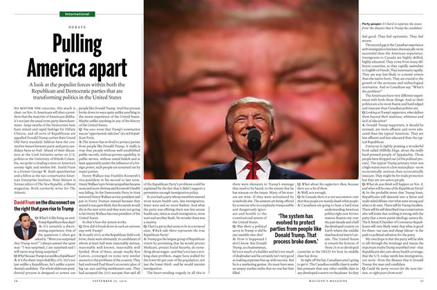 Article Preview: Pulling America apart, September 19 2016 | Maclean's