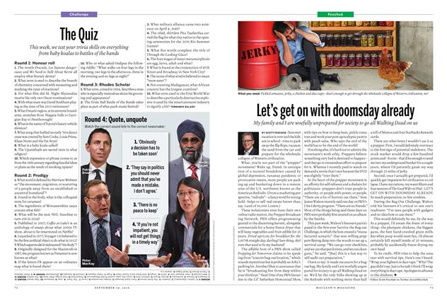 Article Preview: Let's get on with doomsday already, September 19 2016 | Maclean's