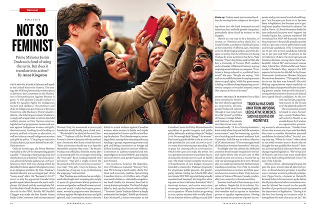 Article Preview: NOT SO FEMINIST, September 19 2016 | Maclean's