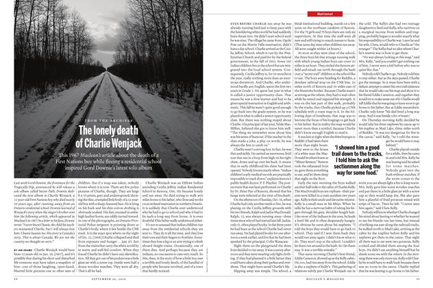 Article Preview: The lonely death of Charlie Wenjack, September 26th 2016 | Maclean's
