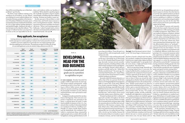 Article Preview: DEVELOPING A HEAD FOR THE BUD BUSINESS, September 26th 2016 | Maclean's