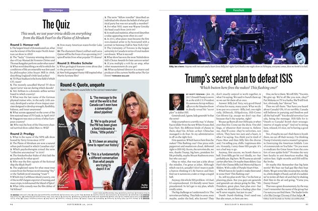 Article Preview: Trump's secret plan to defeat ISIS, September 26th 2016 | Maclean's