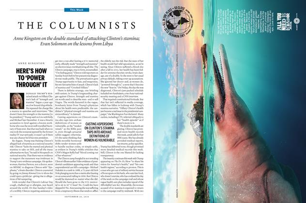 Article Preview: THE COLUMNISTS, September 26th 2016 | Maclean's