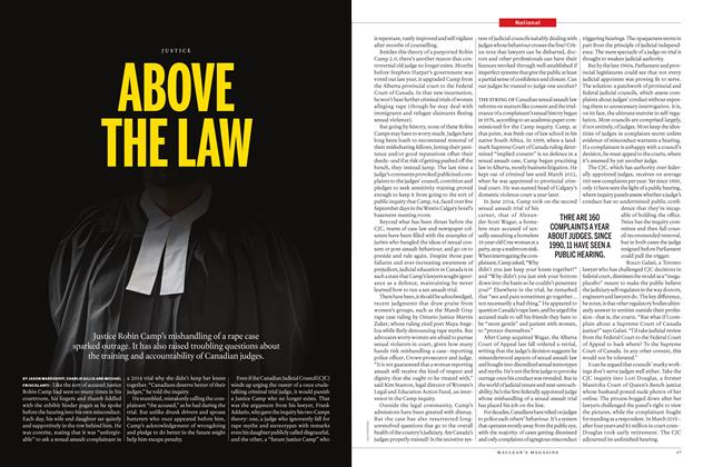 Article Preview: ABOVE THE LAW, September 26th 2016 | Maclean's