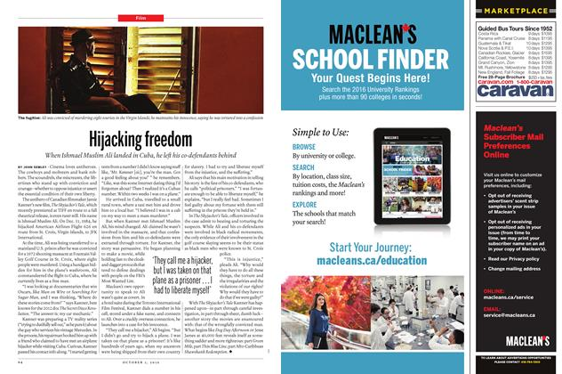Article Preview: Hijacking freedom, October 3 2016 | Maclean's