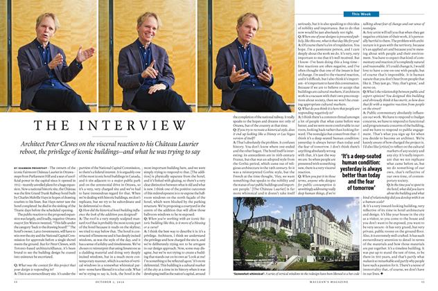 Article Preview: THE INTERVIEW, October 3,  2016 2016 | Maclean's