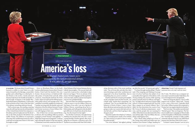Article Preview: America's loss, October 10 2016 | Maclean's