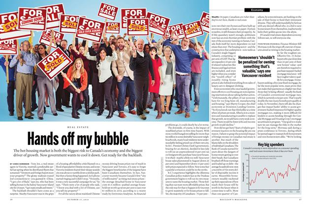 Article Preview: Hands off my bubble, October 17 2016 | Maclean's