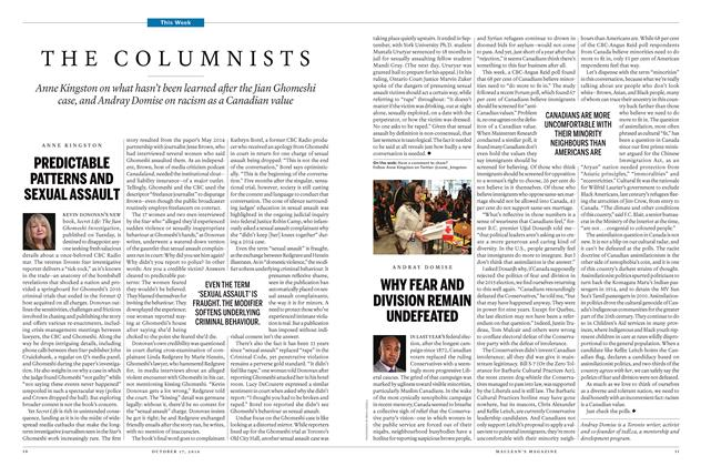 Article Preview: THE COLUMNISTS, October 17 2016 | Maclean's