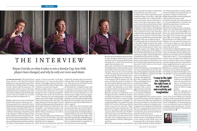 Article Preview: THE INTERVIEW, October 17 2016 | Maclean's
