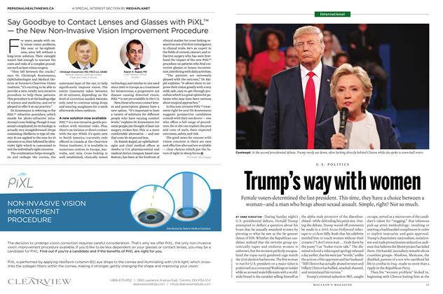 Article Preview: Trump's way with women, October 24 2016 | Maclean's