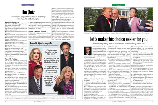 Article Preview: Let's make this choice easier for you, October 24 2016 | Maclean's
