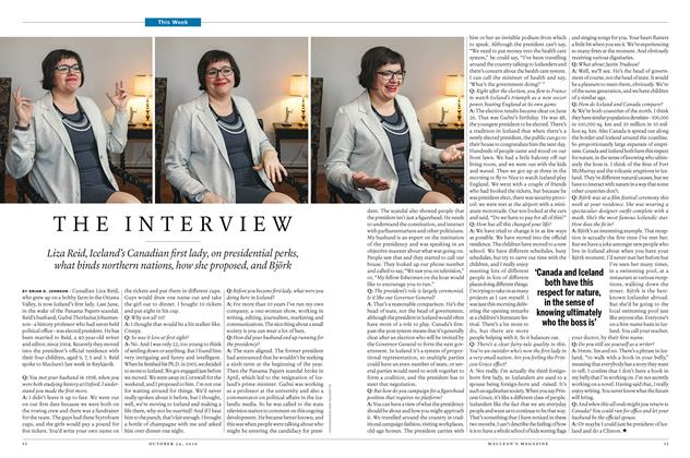 Article Preview: THE INTERVIEW, October 24 2016 | Maclean's