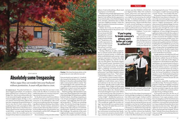 Article Preview: Absolutely some trespassing, OCTOBER 31 2016 | Maclean's