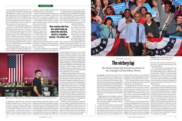 Article Preview: The victory lap, OCTOBER 31 2016 | Maclean's