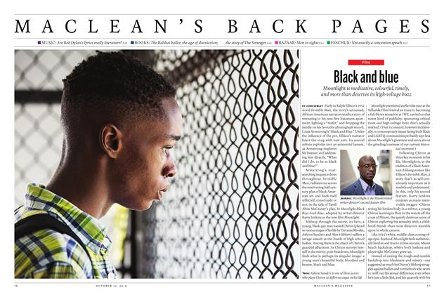 Article Preview: Black and blue, OCTOBER 31 2016 | Maclean's