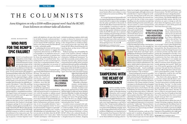 Article Preview: THE COLUMNISTS, OCTOBER 31, 2016 2016 | Maclean's