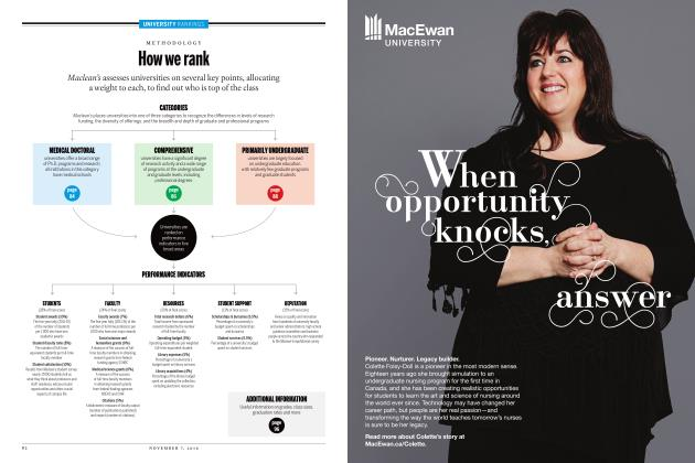Article Preview: When opportunity knocks, answer, NOVEMBER 7, 2016 2016 | Maclean's