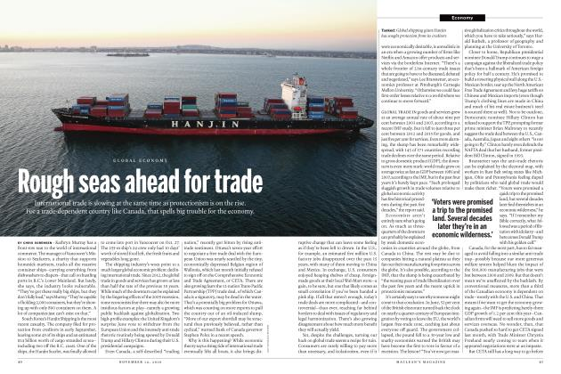 Article Preview: Rough seas ahead for trade, NOVEMBER 14 2016 | Maclean's