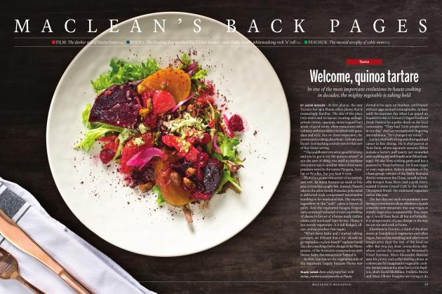 Article Preview: Welcome, quinoa tartare, NOVEMBER 21 2016 | Maclean's