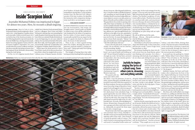 Article Preview: Inside 'Scorpion block', NOVEMBER 21 2016 | Maclean's