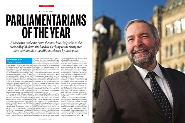 Article Preview: PARLIAMENTARIANS OF THE YEAR, November 28 2016 | Maclean's