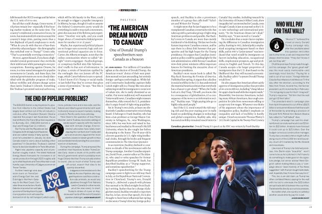 Article Preview: WHO WILL PAY FOR THAT WALL?, November 28 2016 | Maclean's