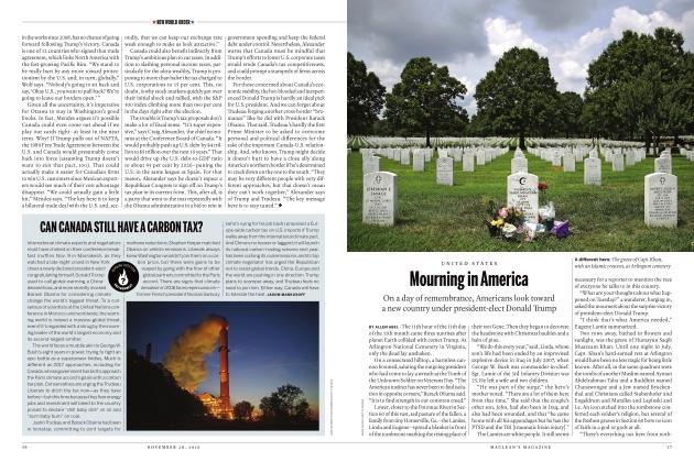 Article Preview: Mourning in America, November 28 2016 | Maclean's