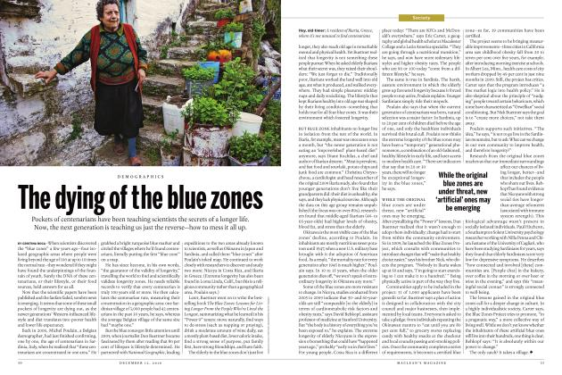 Article Preview: The dying of the blue zones, DECEMBER 12 2016 | Maclean's