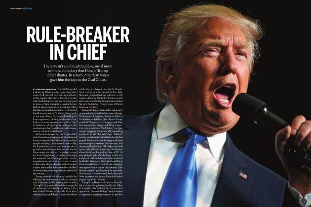 Article Preview: RULE-BREAKER IN CHIEF, DECEMBER 12 2016 | Maclean's