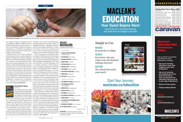 Article Preview: MACLEAN'S BESTSELLERS, December 19, 2016 2016 | Maclean's