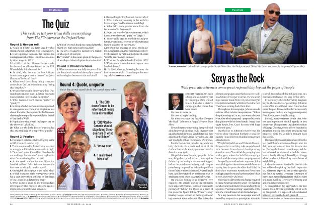 Article Preview: Sexy as the Rock, December 19, 2016 2016 | Maclean's