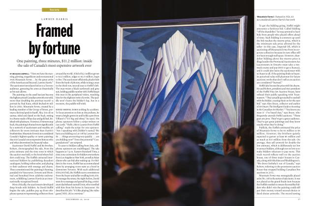 Article Preview: Framed by fortune, December 19 2016 | Maclean's