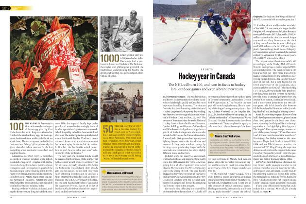Article Preview: Hockey year in Canada, JANUARY 2017 | Maclean's