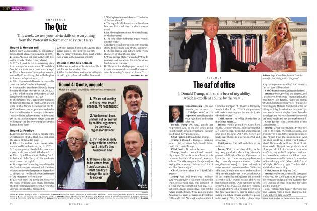 Article Preview: The oaf of office, JANUARY 2017 | Maclean's