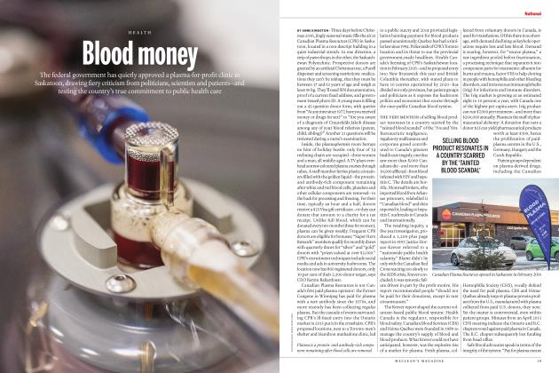 Article Preview: Blood money, FEBRUARY 2017 | Maclean's