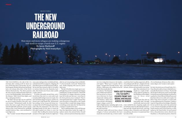 Article Preview: THE NEW UNDERGROUND RAILROAD, MARCH 2017 | Maclean's