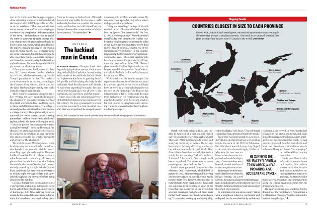 Article Preview: The luckiest man in Canada, MARCH 2017 | Maclean's