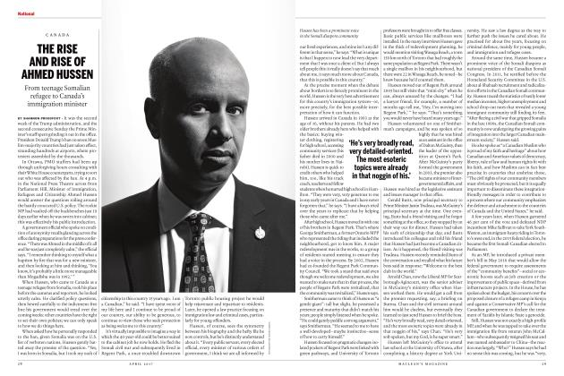 Article Preview: THE RISE AND RISE OF AHMED HUSSEN, APRIL 2017 | Maclean's