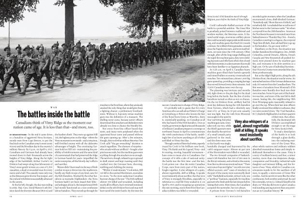 Article Preview: The battles inside the battle, APRIL 2017 | Maclean's